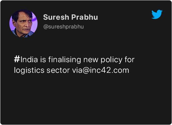 Suresh Prabhu on Startups