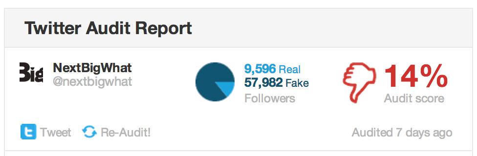 Percentage of Fake vs Real Followers