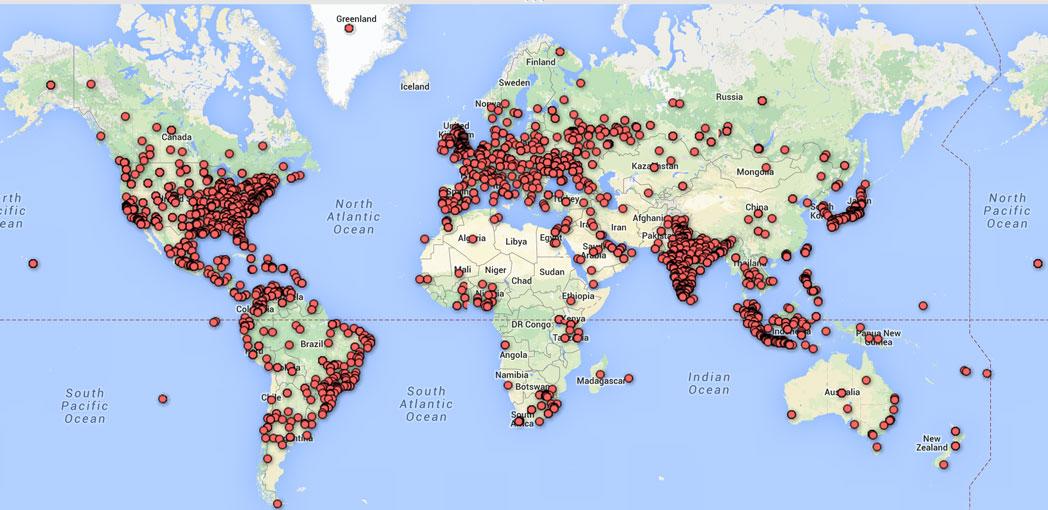 Twitter Followers Mapped