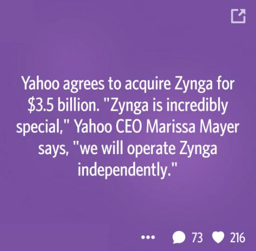Yahoo-zynga