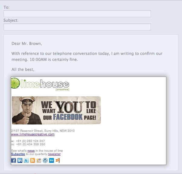 email signature 1