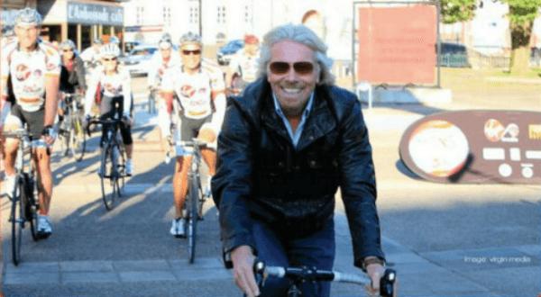 richard branson cycling