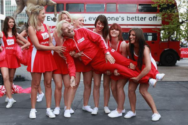 richard branson -girls holding'
