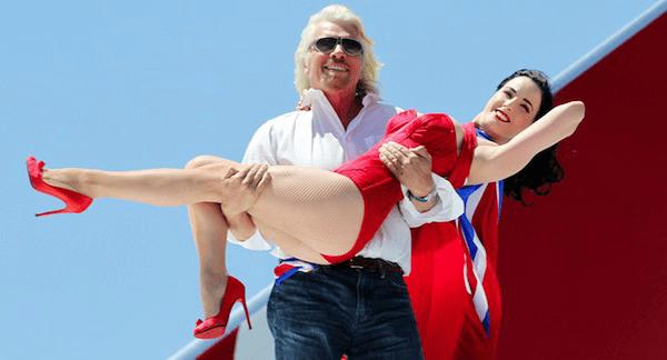 richard branson holding girl