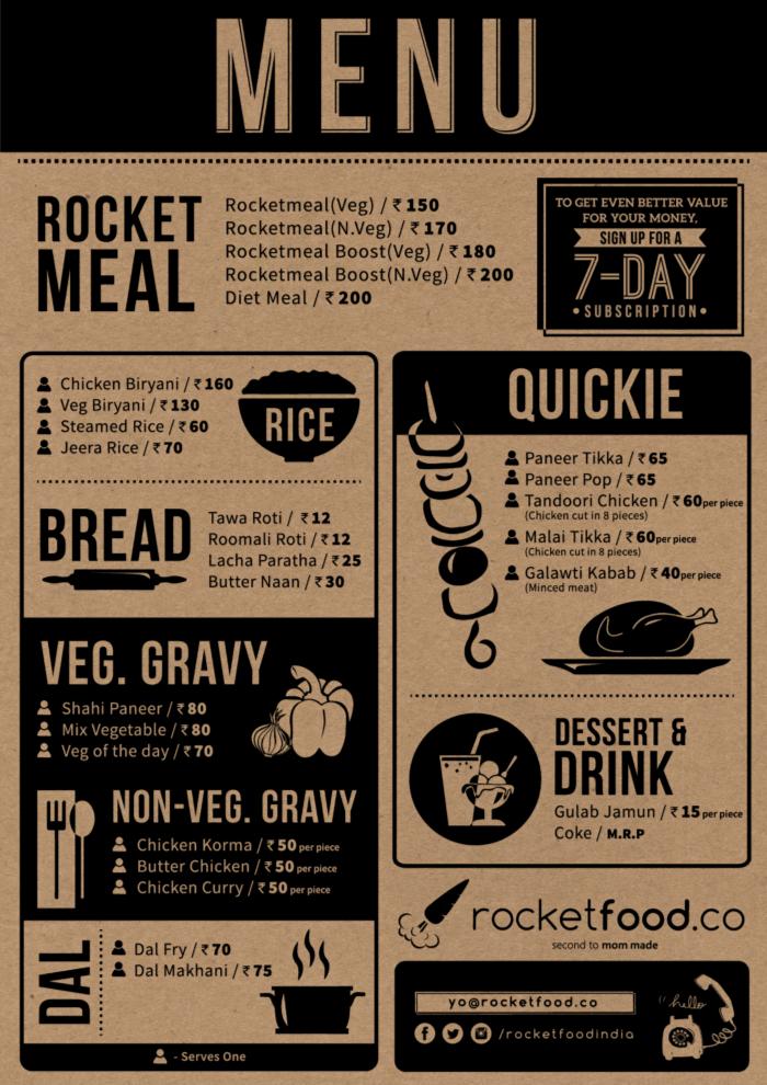 rocketfood menu
