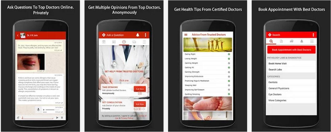 lybrate app screenshots