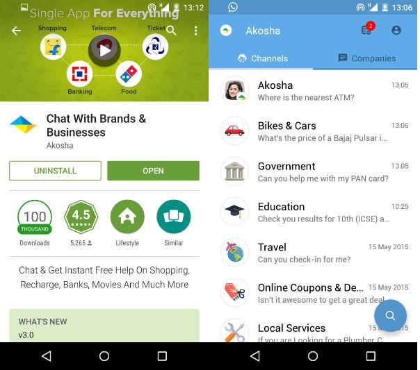 akosha android app