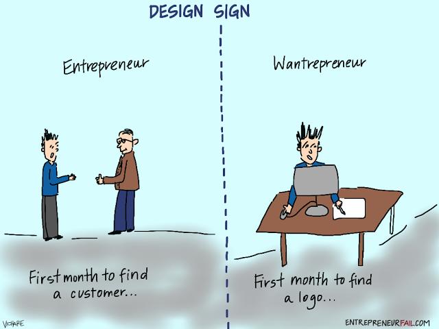 #entrepreneurfail Logo Design