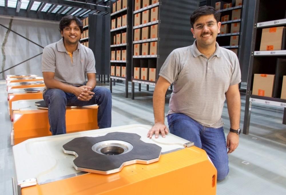 Samay Kohli (R) with Akash Gupta, CTO & cofounder, Grey Orange