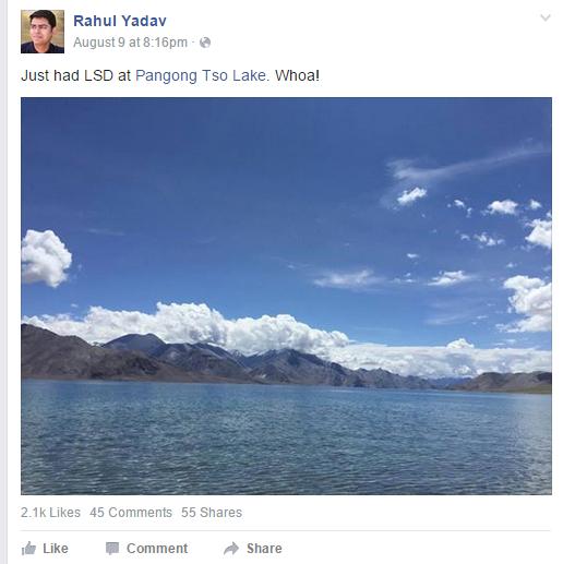 rahul yadav Ladakh