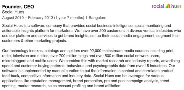Vinita's LinkedIn Profile