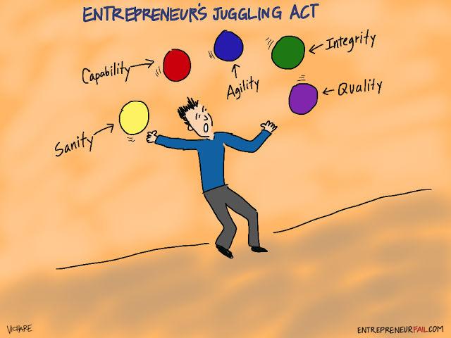 #entrepreneurfail Juggling Act