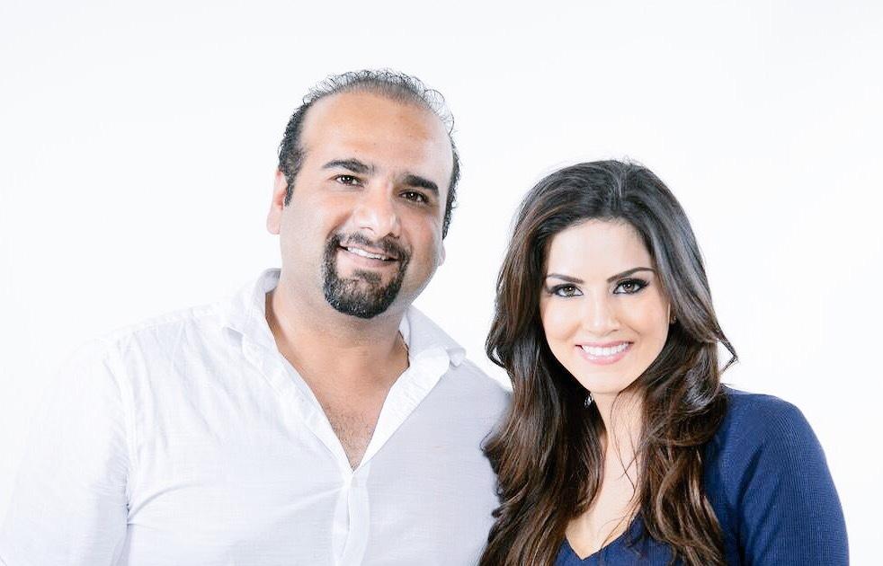 Sunny Leone & Salim Rajan (CEO)