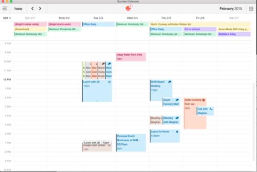 After: Sunrise Calendar