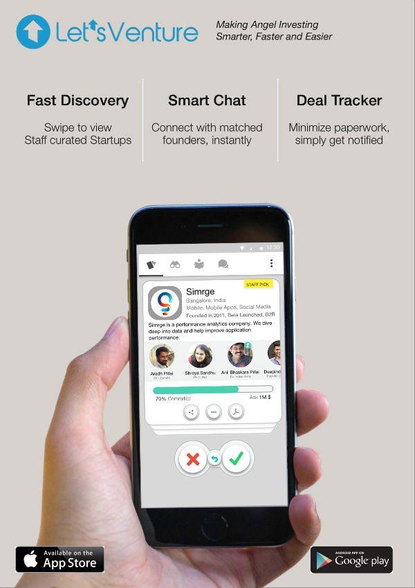 LetsVenture mobile app poster