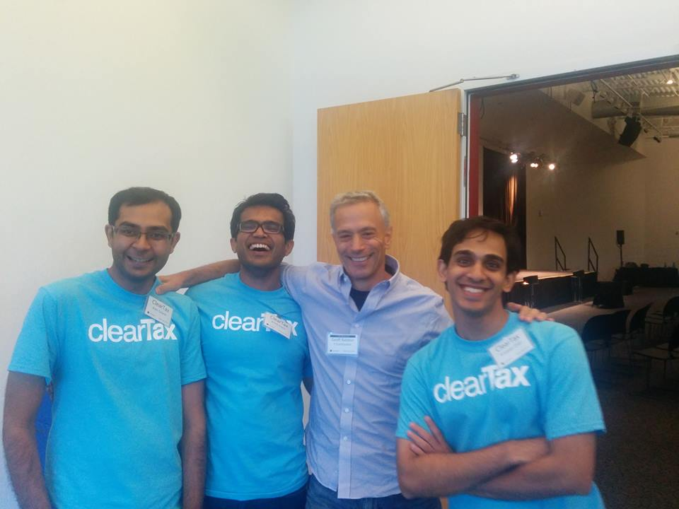 cleartax-co-founders-ankit-solanki-cto-archit-gupta-srivatsan-chari-vp-business-and-operations-with-geoff-ralston-at-yc-in-2014