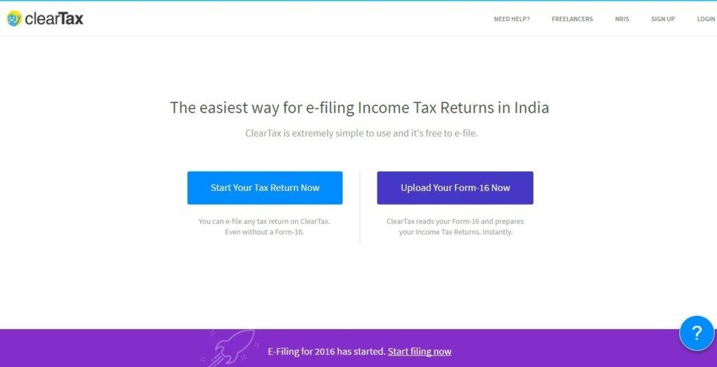 cleartax_website-screen-shot