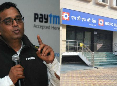 paytm-vijay shekhar sharma-hdfc bank
