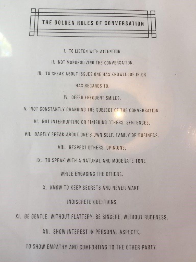golden rules of conversation