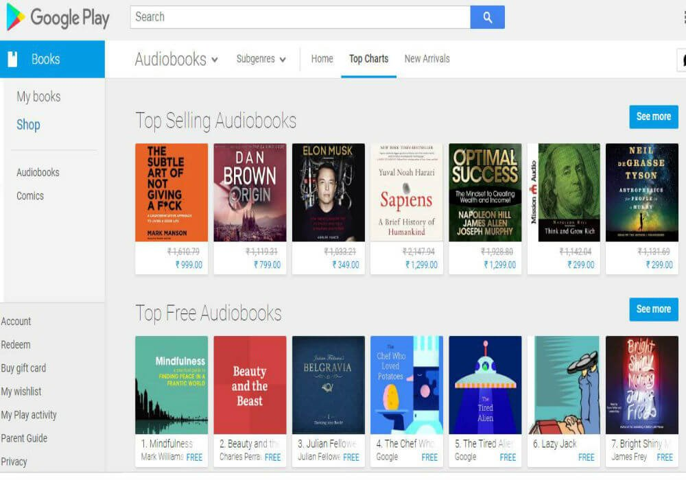 google play-audiobooks-india