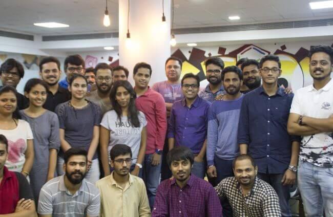 Manav Jeet with the tech team