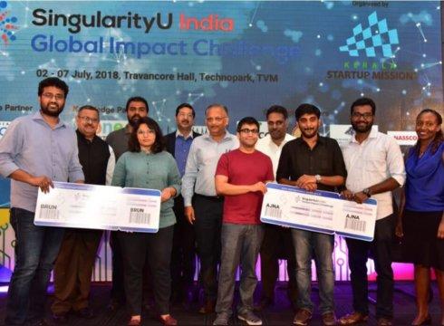 Kerala's Ajna And Delhi's Brun Health Ready To Fly To Singularity University After Winning GIC India Challenge 2018