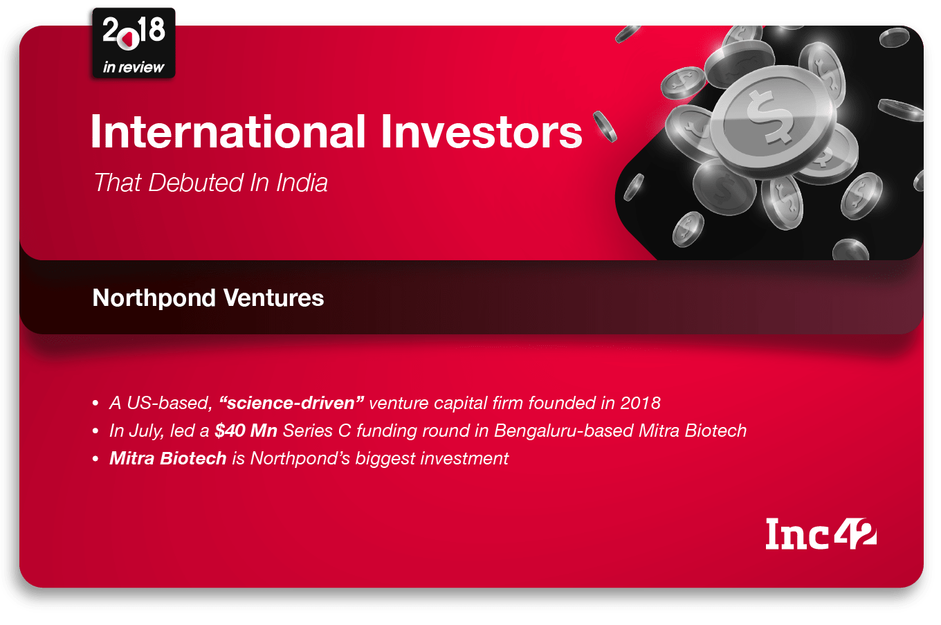 2018 In Review: International Investors That Debuted In India