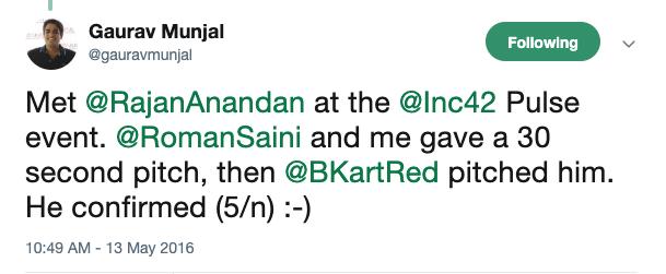 Gaurav Munjal Unacademy Tweet