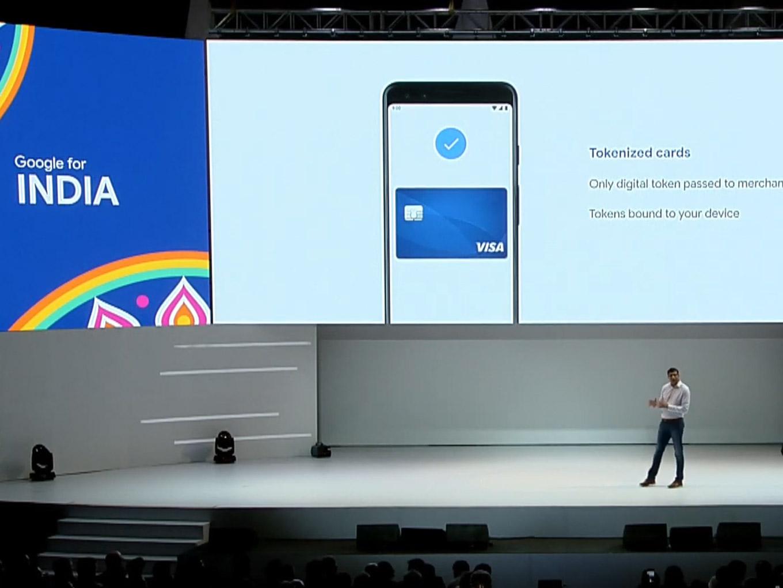 Google Pay credit debit card support tokenization