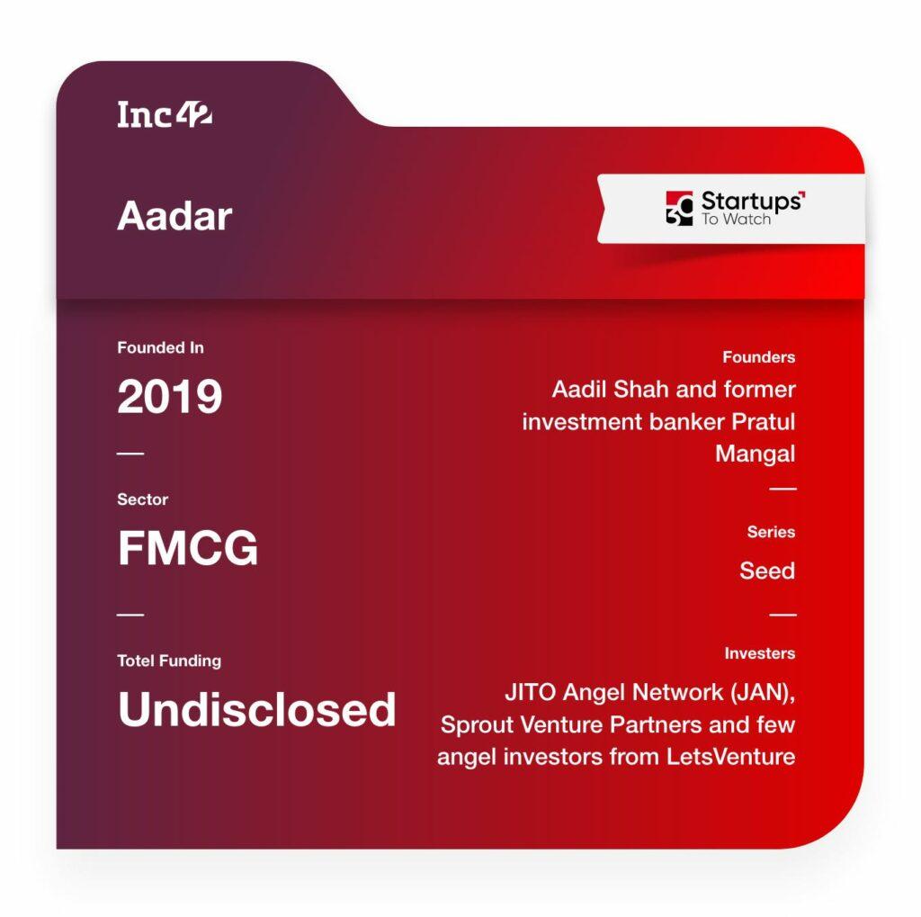 Aadar fmcg startup