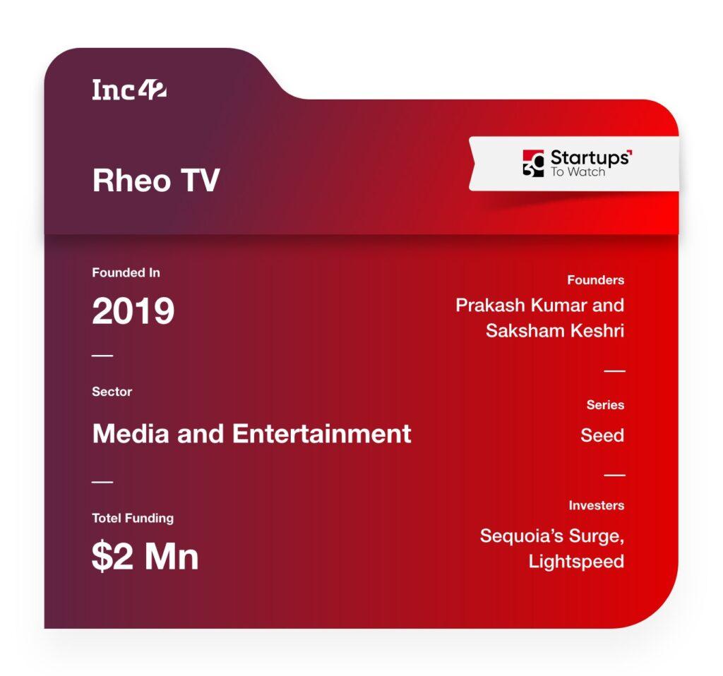 Rheo TV media startup