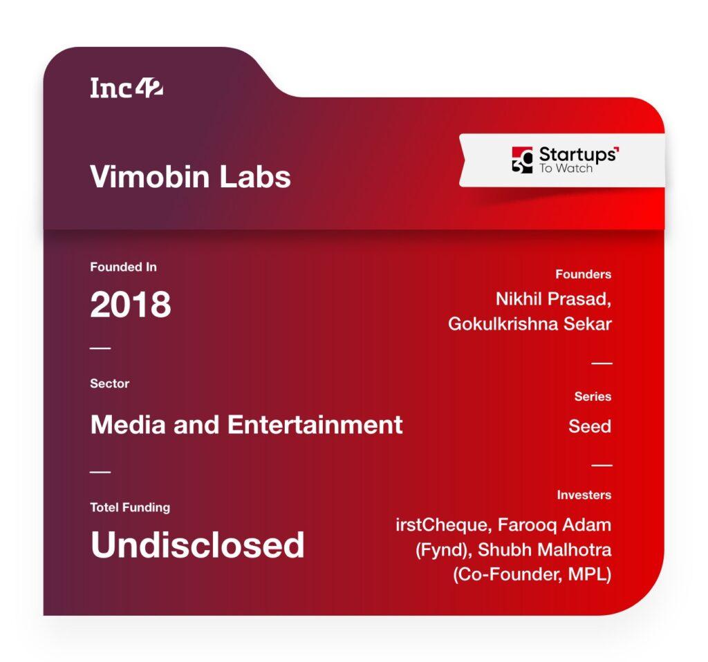 Vimobin Labs media startup