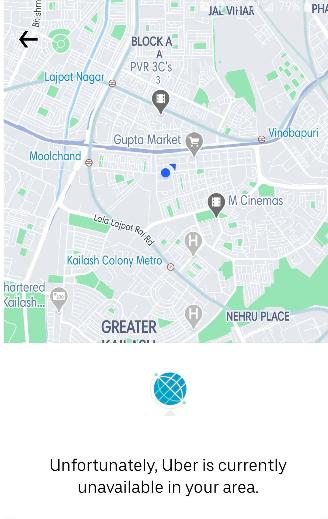 Uber Delhi Shut down
