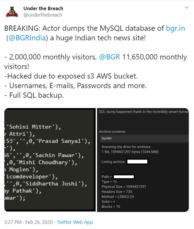 Tech News Site BGR India Hacked; Employee Data Leaked On Dark Web