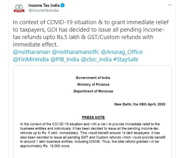 https://twitter.com/IncomeTaxIndia/status/1247866754904117248