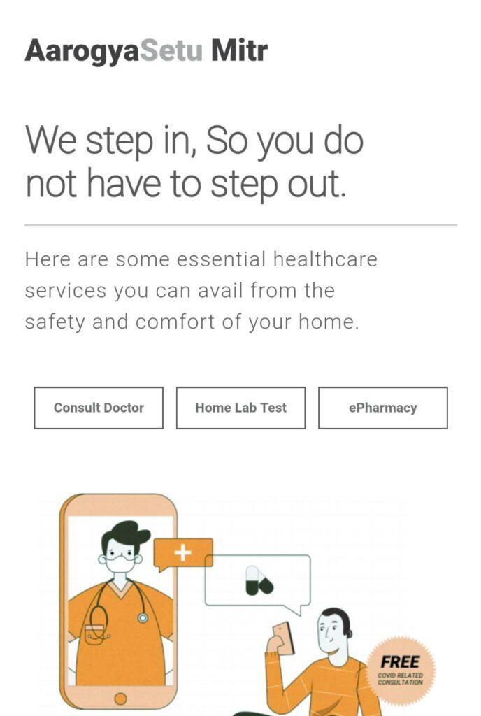 Aarogya Setu Launched Mitr Portal To Offer Telemedicine Service