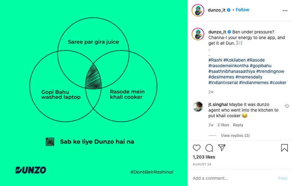 Dunzo Social Media Marketing