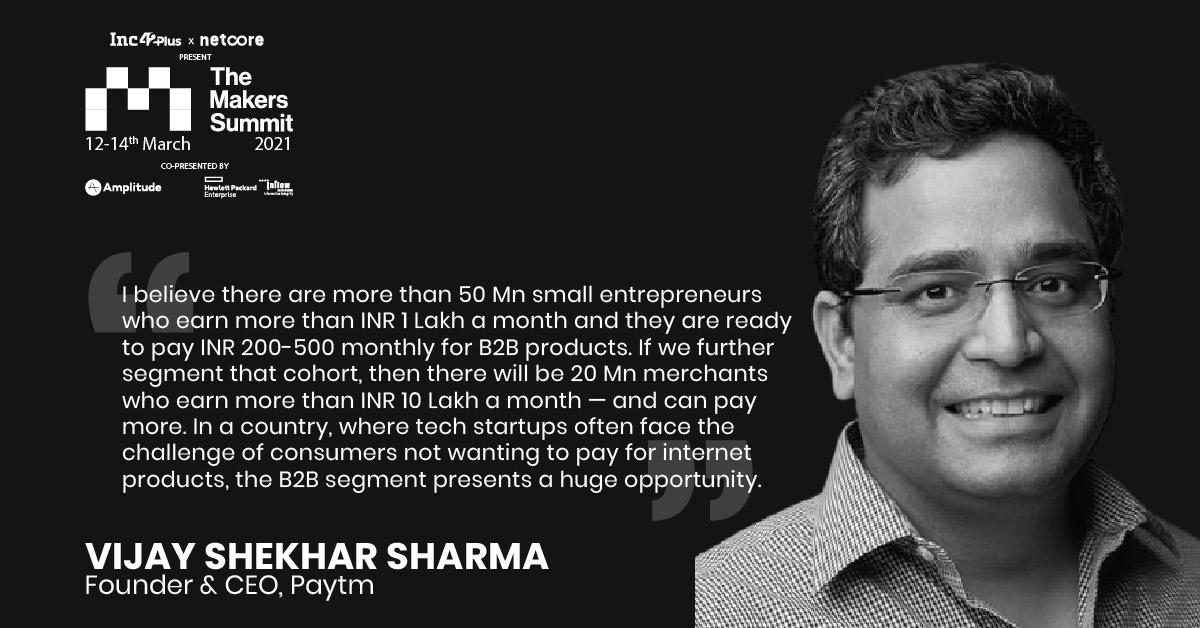 Vijay Shekhar Sharma On The Paytm Product Playbook At The Makers Summit 2021