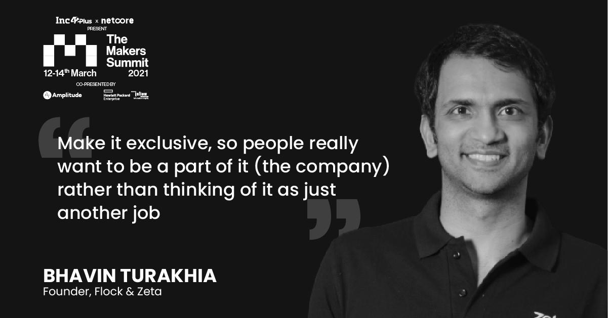Bhavin Turakhia On hiring