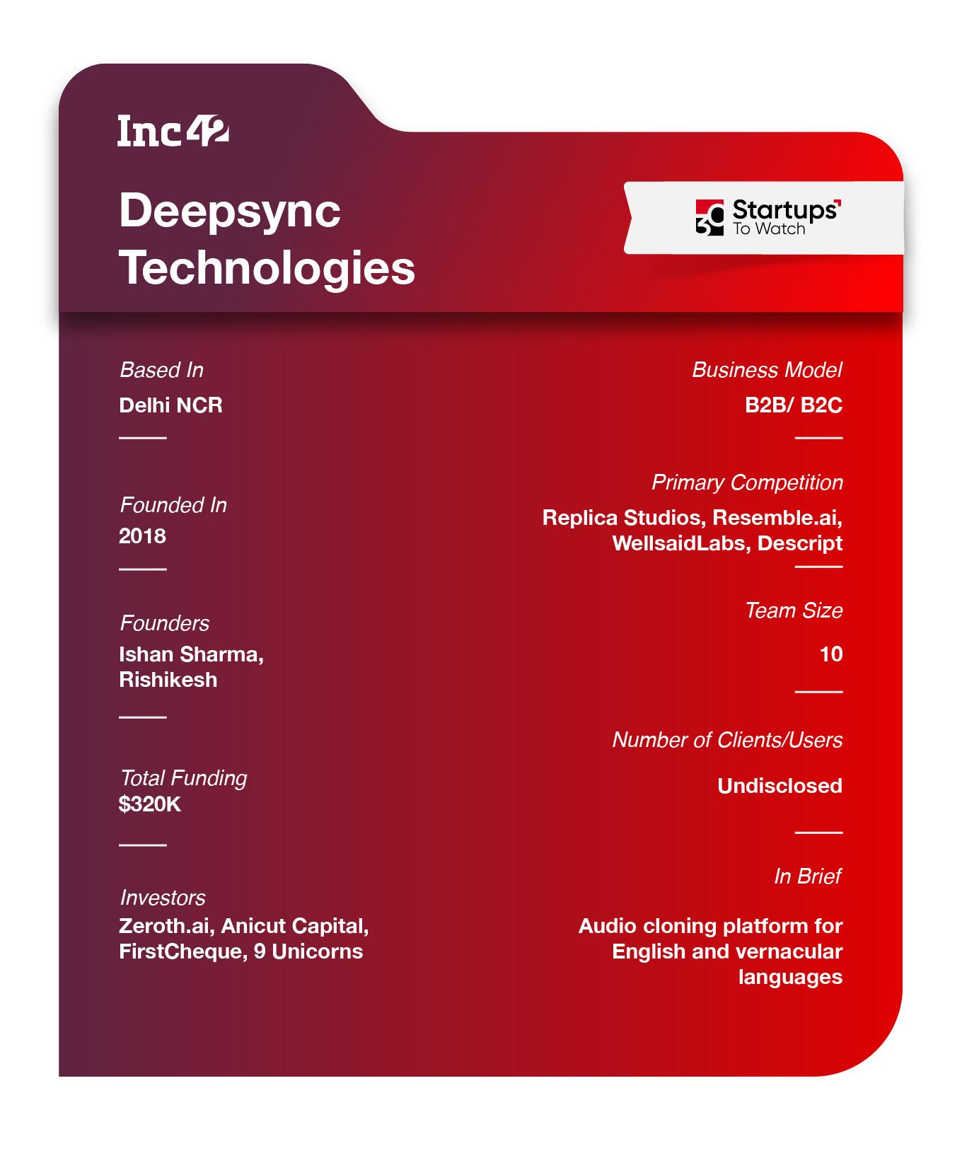Deepsync factsheet