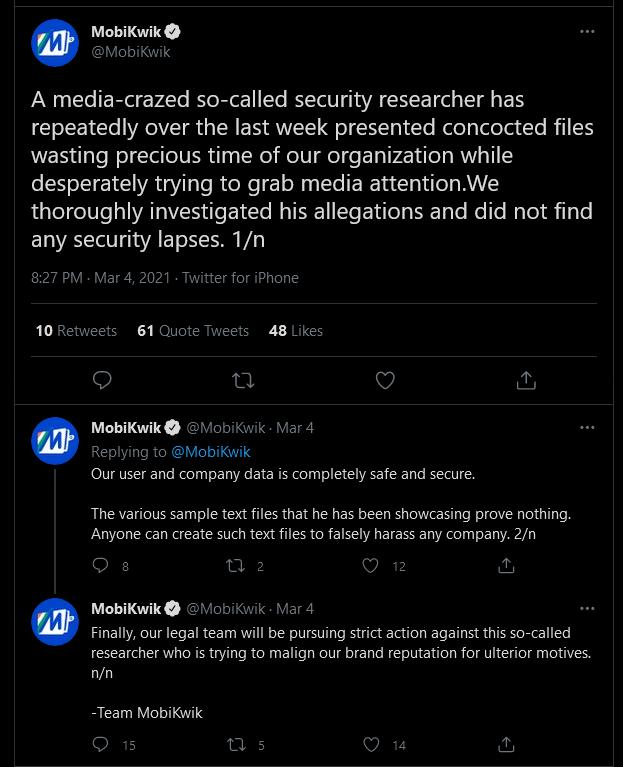 Mobikwik response on data breach