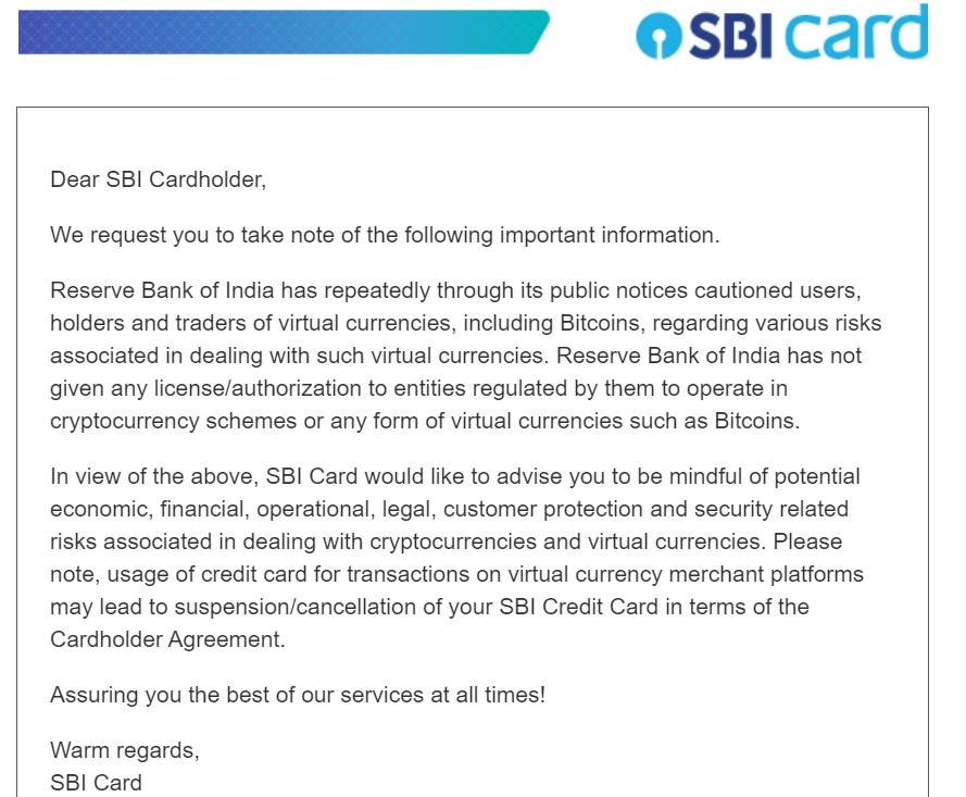 SBI advisory on Bitcoin cryptocurrencies