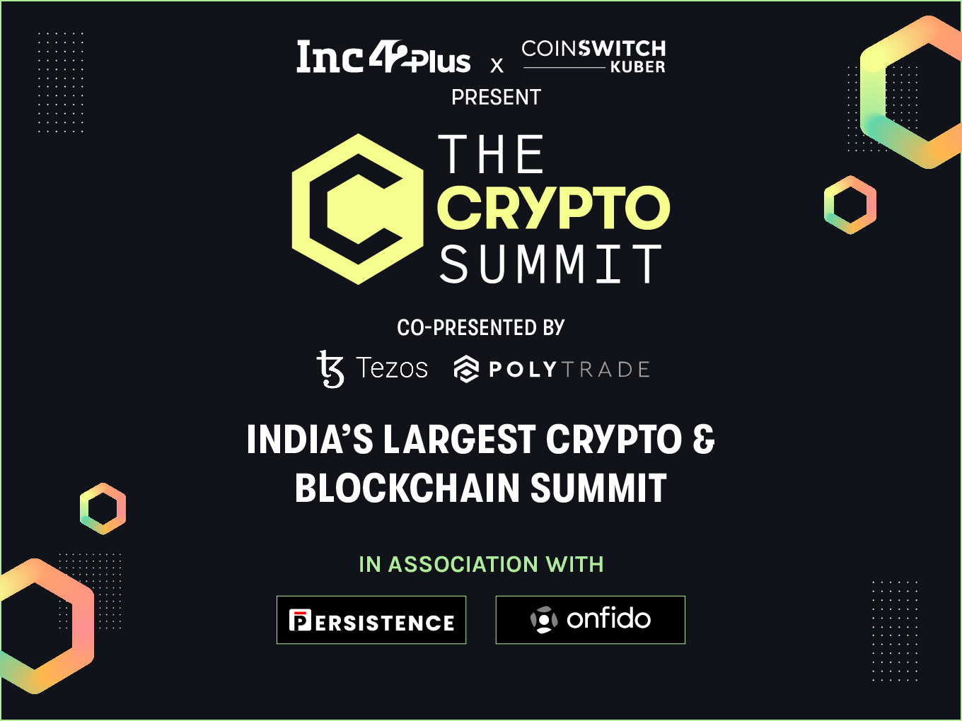 The Crypto Summit: Thank You, Sponsors & Partners, For Supporting The Summit & The Ecosystem!
